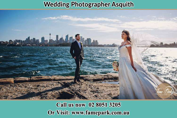 Photo of the Groom and the Bride at the sea front Asquith NSW 2077