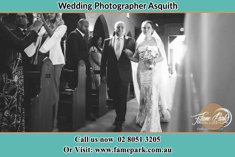 Photo of the Bride with her father walking the aisle Asquith NSW 2077