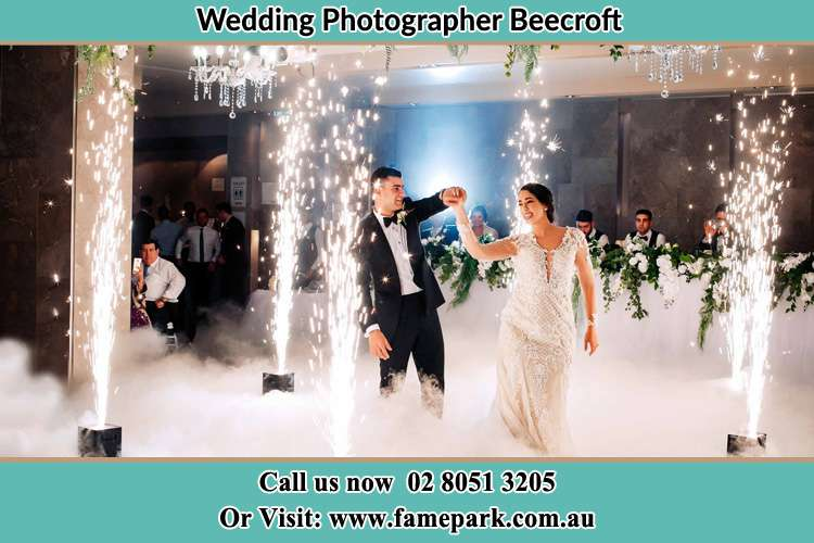 Photo of the Groom and the Bride dancing on the dance floor Beecroft NSW 2119