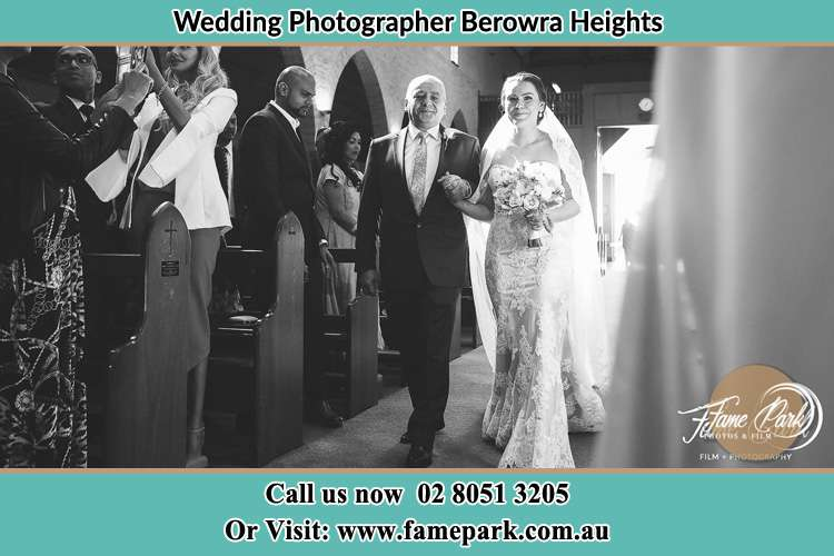 Photo of the Bride with her father walking the aisle Berowra Heights NSW 2082