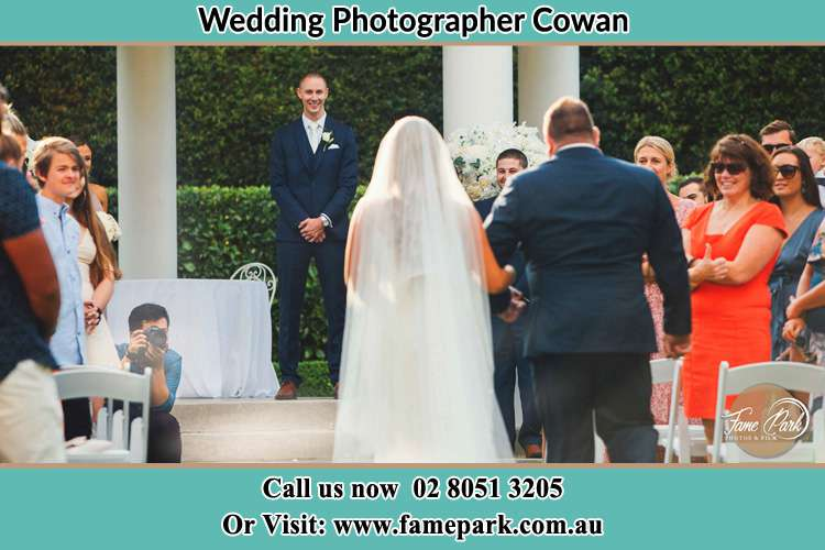 Photo of the Bride with her father walking the aisle Cowan NSW 2081