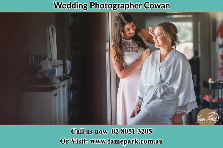 Photo of the Bride having make up Cowan NSW 2081