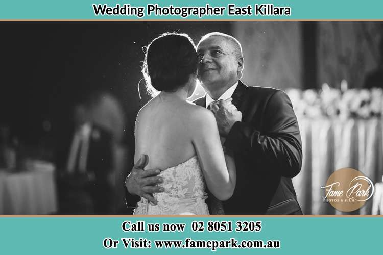 Father dancing with his bride daughter East Killara NSW 2071