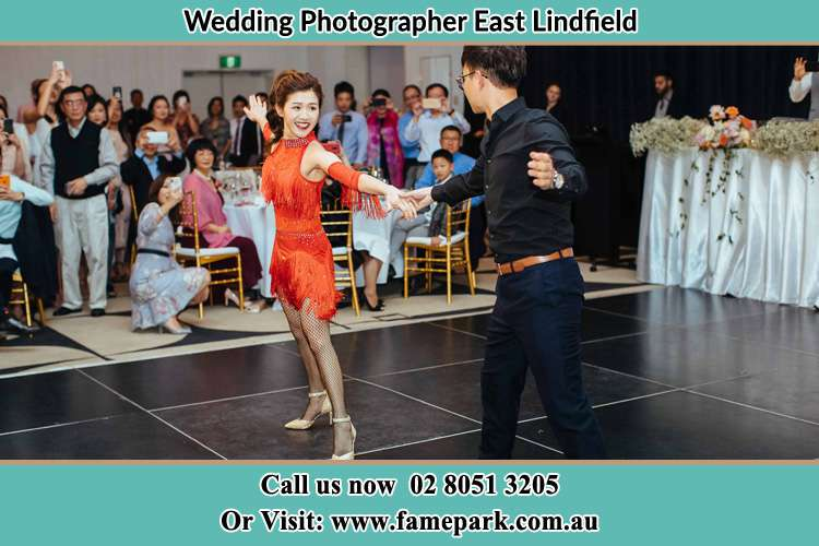 Photo of the Bride and the Groom dancing on the dance floor East Lindfield NSW 2070