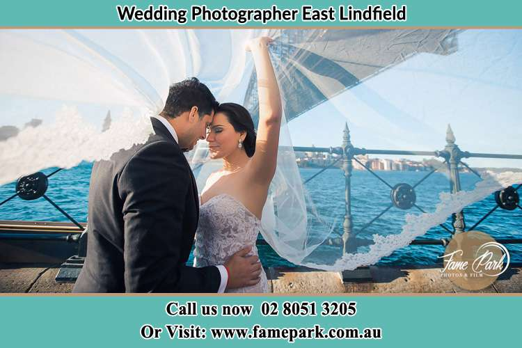 Photo of the Groom and the Bride kissing East Lindfield NSW 2070