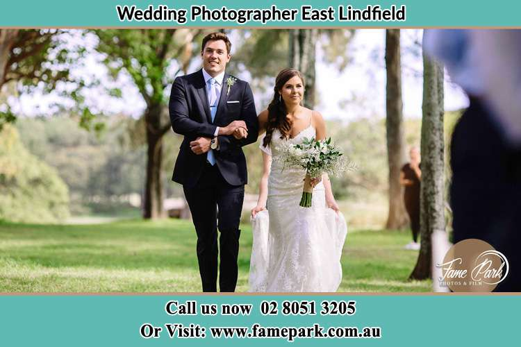Photo of the Groom and the Bride walking East Lindfield NSW 2070