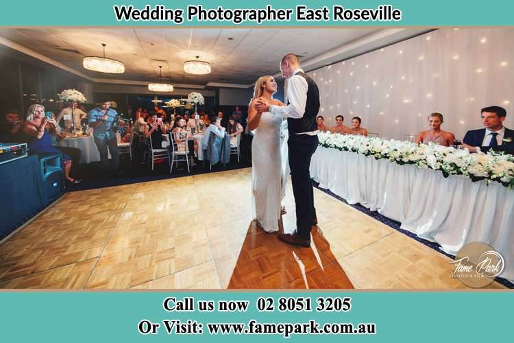 Photo of the Bride and the Groom dancing East Roseville NSW 2068