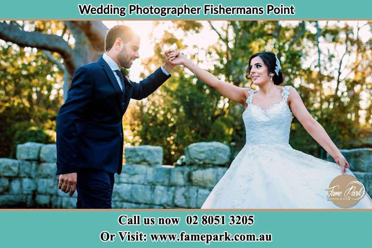 Photo of the Groom and the Bride dancing Fishermans Point NSW 2082