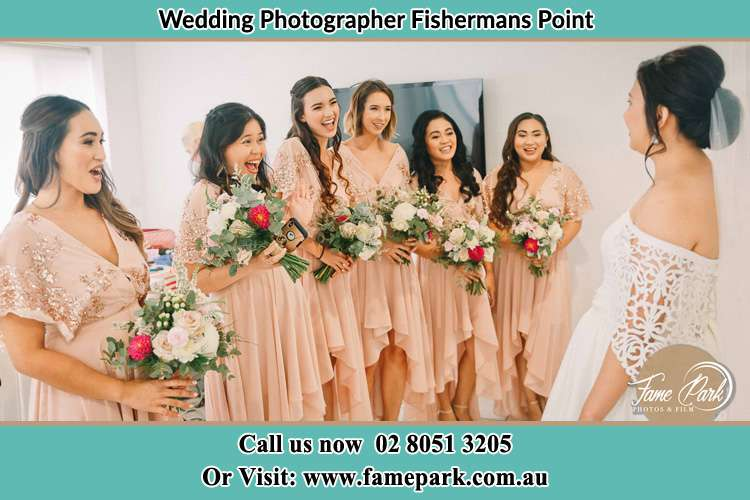 Photo of the Bride and the bridesmaids Fishermans Point NSW 2082