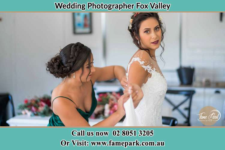 Photo of the Bride and the bridesmaid getting ready Fox Valley NSW 2076