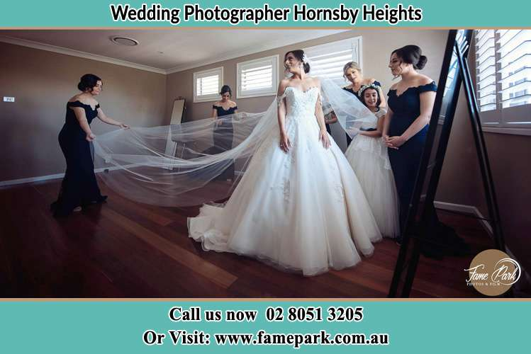Photo of the Bride and the secondary sponsor preparing Hornsby Heights NSW 2077