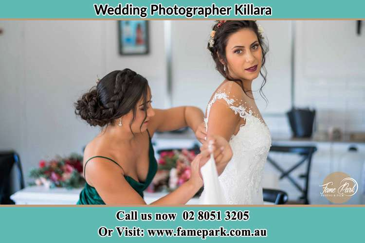 Photo of the Bride and the bridesmaid getting ready Killara NSW 2071