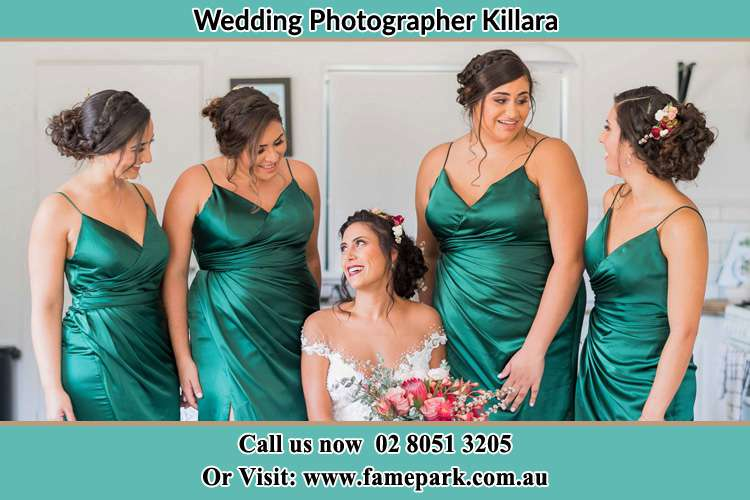 Photo of the Bride and the bridesmaids Killara NSW 2071