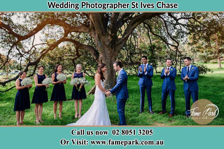 Photo of the Groom and the Bride with the entourage St Ives Chase NSW 2075