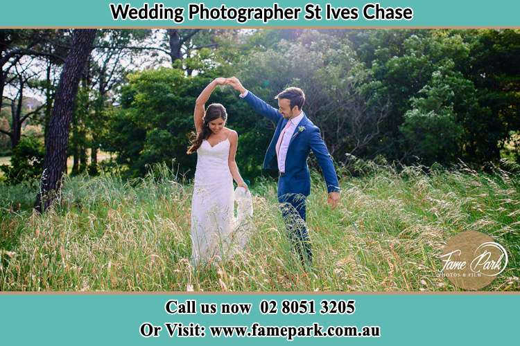 Photo of the Bride and the Groom dancing St Ives Chase NSW 2075