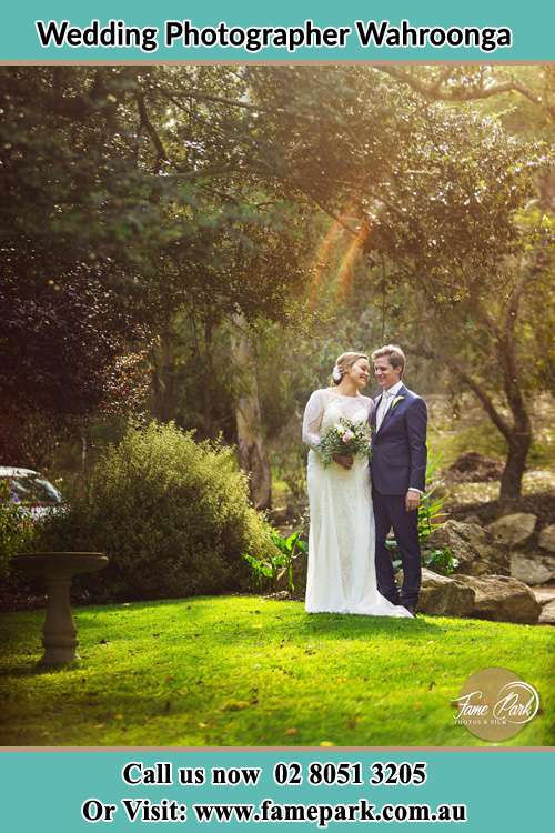 Photo of the Bride and the Groom at the yard Wahroonga NSW 2076