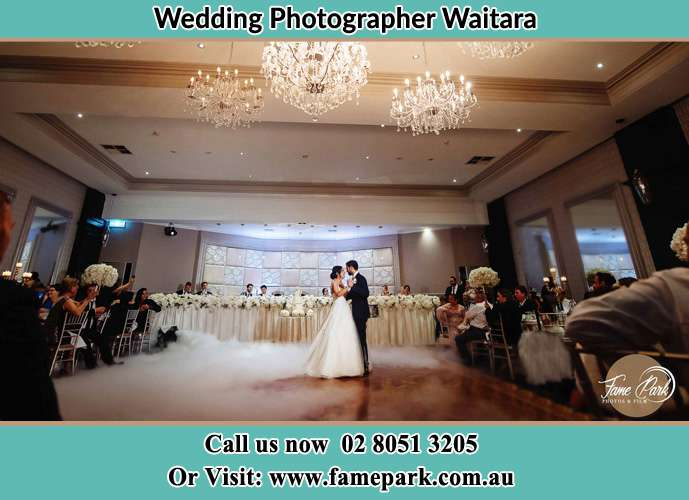 Photo of the Bride and the Groom dancing on the dance floor Waitara NSW 2077