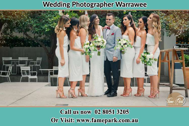 Photo of the Bride and the Groom with the bridesmaids Warrawee NSW 2074
