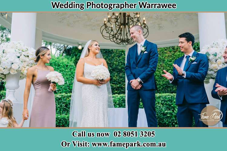 Photo of the Groom and the Bride with the entourage Warrawee NSW 2074
