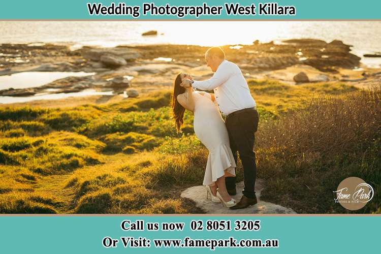 Photo of the Bride and the Groom dancing near the lake West Killara NSW 2071